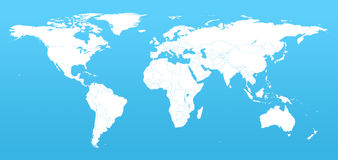 Detail world map. Real detail world map of continents Royalty Free Stock Image