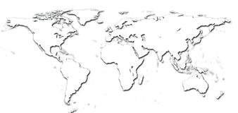 Detail world map Stock Images