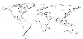 Detail world map Royalty Free Stock Photo