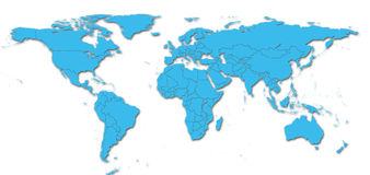 Detail world map Stock Photo