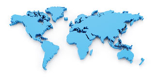 Detail world map, 3d render Royalty Free Stock Photography