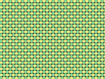 Detail of woven basket. Detail of green and yellow woven basket pattern as a background Stock Photos