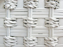 Detail of woven baskets, painted in white Royalty Free Stock Image