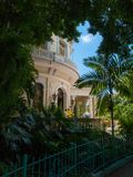 Havana, Cuba, writers` house and gardens. Detail of the writers house and gardens in Havana, capital of Cuba. America Royalty Free Stock Image