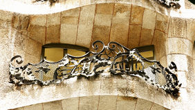 Detail wrought building La Pedrera Royalty Free Stock Image