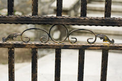 Detail from wrought iron fence Royalty Free Stock Image