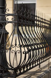 Detail of wrought iron railing Stock Photo