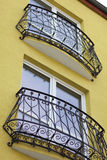 Detail of wrought iron railing Stock Photography