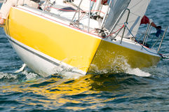 Detail of yacht. Detail of a yacht sailboat Royalty Free Stock Photography
