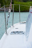 Detail of an yacht: deck and a hatch Stock Photos