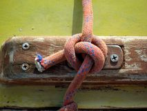 Detail yacht rope stock photography