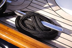 Free Detail Yacht Rope And Cleat Royalty Free Stock Photo - 864325