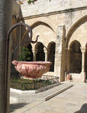 Detail of yard in Bethlehem. The Church of the Nativity in Bethlehem is one of the oldest continuously operating churches in the world. The structure is built Royalty Free Stock Photos