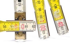 Detail of yardstick Stock Images