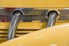 Detail Yellow Vintage Car stock images