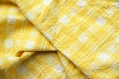 Detail of yellow dishtowel backgrounds Royalty Free Stock Images