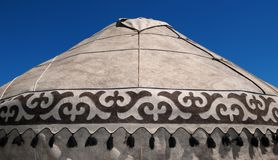 Detail of yurt. Portable, bent dwelling structure traditionally used by nomads in the steppes of Central Asia as their home Stock Image