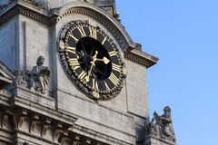 Detail of Zagreb's cathedral clock Stock Images
