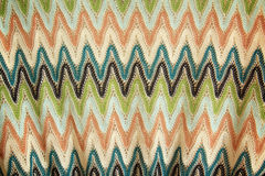 Detail of a zig-zag pattern on lace fabric Stock Image