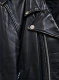 detail2 kurtki skóra Zdjęcie Stock