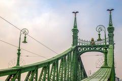 Detailansicht von Liberty Bridge in Budapest, Ungarn stockbild