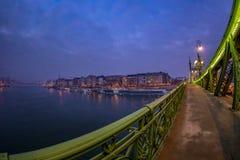 Detailansicht von Liberty Bridge in Budapest, Ungarn lizenzfreies stockfoto