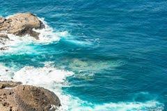 Detailbeeld van de rotsachtige kust van Tenerife royalty-vrije stock afbeeldingen
