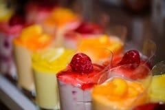 Detailbeeren Pudding und Gelee lizenzfreie stockfotos