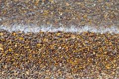 Detailbild eines Strandes Stockbild