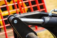 Detaild industrial pneumático, maquinaria hidráulica feita do aço fotografia de stock royalty free