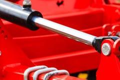 Detaild industriale pneumatico, macchina idraulica fatta di acciaio Immagini Stock