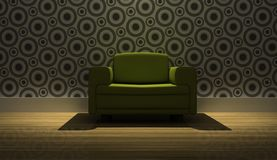Detailed 3d rendering modern armchair Stock Photos