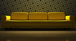 Detailed 3d rendering modern sofa Royalty Free Stock Photography