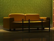 Detailed 3d rendering modern sofa Stock Image
