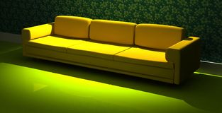 Detailed 3d rendering modern sofa Stock Photo