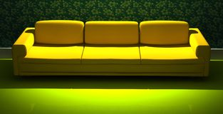 Detailed 3d rendering modern sofa Stock Images