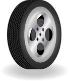 Detailed 3D Vector Tire. With stripes details Stock Image