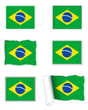 Brazil flag set. Detailed and accurate illustration of brazil flag set Royalty Free Stock Image