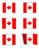 Canada flag set Stock Photos
