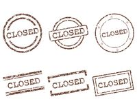 Closed stamps. Detailed and accurate illustration of closed stamps Royalty Free Stock Images