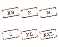Clothing size stamps. Detailed and accurate illustration of clothing size stamps Royalty Free Stock Image