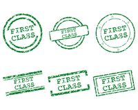 First class stamps. Detailed and accurate illustration of first class stamps Stock Images