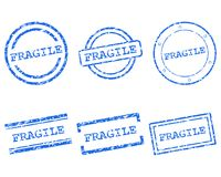 Fragile stamps. Detailed and accurate illustration of fragile stamps Stock Photography