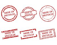 Made in Britain stamps. Detailed and accurate illustration of made in Britain stamps stock illustration