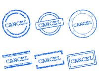 Cancel stamps. Detailed and accurate illustration of mancel stamps stock illustration