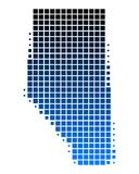 Map of Alberta. Detailed and accurate illustration of map of Alberta Royalty Free Stock Images
