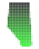 Map of Alberta. Detailed and accurate illustration of map of Alberta Stock Photos