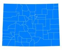 Map of Colorado Stock Image