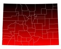 Map of Colorado Stock Photos