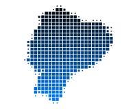 Map of Ecuador Royalty Free Stock Photo
